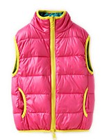 Girl's Vest,Polyester Winter Blue / Pink