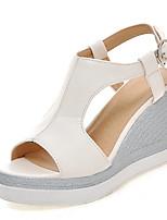 Women's Shoes  Wedge Heel Wedges / Peep Toe / Platform Sandals Dress / Casual Blue / Yellow / Pink / White