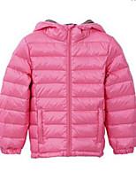 Girl's Blue / Red Jacket & Coat,Stripes Nylon Winter