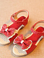 Girls' Shoes Outdoor Comfort Leatherette Sandals Blue / Pink / Red
