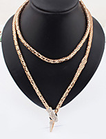 Soul Snake 18K Gold Necklace Can Do Belt