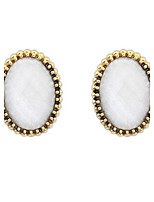 Fashion Jewelry Vintage Look Antique Simple Oval Candy Colors Stud Earrings Trendy Gifts For Women