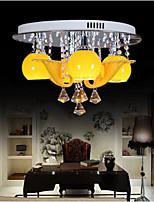 Study lamp Circular Room Lamp Ceiling lamp Room Crystal lamp