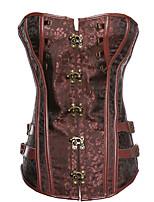 Women S-6XL Cincher Waist Bustier Patent Leather Corset ,Lingerie Shaper Plus Size with G-String