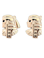 Hot Sale Statement Earrings Egypt Style Gold Human Face Ear Studs High Quality Women Men Unisex Jewelry