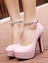 Women's Shoes Leatherette Stiletto Heel Heels Heels Wedding / Party & Evening Pink / White