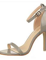 Chaussures Femme-Décontracté-Noir / Violet / Rouge / Argent / Gris / Beige-Gros Talon-Talons-Talons-Laine synthétique
