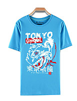 Inspired by Tokyo Ghoul Ken Kaneki Anime Cosplay Costumes Cosplay T-shirt Print Blue Short Sleeve Top