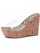 Women's Shoes Leatherette Platform Comfort Sandals Outdoor Brown / Animal Print
