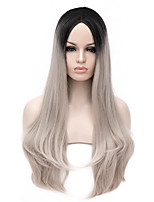 New Arrival Europe Black And Grey Heat Resistant Hair Synthetic Wigs