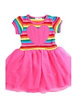 Girl's Dress,Cotton Summer / Spring Red