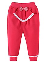 Girl's Pink / Red Pants Cotton Spring / Fall