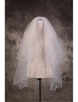 Wedding Veil Three-tier Elbow Veils / Fingertip Veils Cut Edge / Pencil Edge