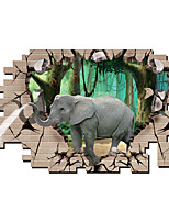 3D Wall Stickers Wall Decals Style Elephant PVC Wall Stickers