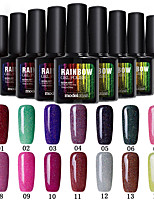 Modelones Beauty 10ml Colorful Rainbow Neon Gel Polish Nail Varnish Manicure Tool 28 Colors