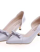 Chaussures Femme-Soirée & Evénement-Noir / Rose / Gris-Talon Bas-Talons-Talons-Similicuir