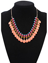 Latest Women Multi layers Statement Necklace Bohemia Style Choker Chains Ball Handmade Collar Necklaces
