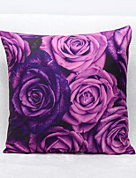 3D Violets Pattern Velvet Pillowcase Sofa Home Decor Cushion Cover (18*18inch)