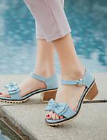 Women's Shoes Chunky Heel Peep Toe / Open Toe Sandals Party & Evening / Dress / Casual Black / Blue/ Gray / Orange