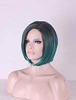 Women Bobo Curly Synthetic Hair Wig Green