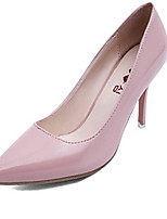 Women's Shoes Leather Stiletto Heel Heels Heels Wedding / Party & Evening Black / Pink / Red / White