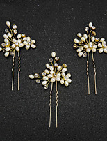 Women's / Flower Girl's Pearl / Imitation Pearl Headpiece-Wedding / Special Occasion Hair Pin 2 Pieces