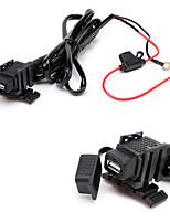 jtron impermeável carro usb telefone / navegação carregador de carro - preto
