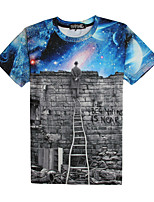 3D T-shirt Male As Picture Cosplay The Berlin wall Cosplay Costumes T-shirt