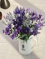 Ten Heads Silk Lavender Artificial Flowers Multicolor Optional 1pc/set
