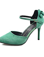 Women's Shoes Fleece Stiletto Heel Heels Heels Office & Career / Party & Evening / Dress Black / Green / Red