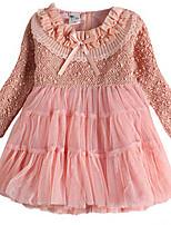 Mädchen Kleid-Baumwolle Sommer / Frühling Rosa