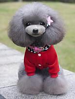 Hunde Mäntel / Kapuzenshirts / Kleidung / Kleidung Rot / Schwarz Winter / Sommer / Frühling/Herbst Klassisch Modisch-Lovoyager