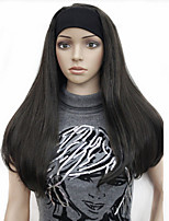 3/4 wigs Half wig With Headband Long Straight Blonde Synthetic Hair Wig many colors for you choose