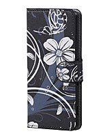 For Sony Case / Xperia XA Wallet / Card Holder / with Stand / Flip Case Full Body Case Flower Hard PU Leather for Sony Sony Xperia XA