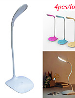 Jiawen 4pcs / lot élégant portable 2w 100lm 6000k 3 en mode lampe de table lumière blanche 14-conduit (dc 5v)