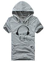 Men's Short Sleeve T-Shirt,Cotton / Acrylic Casual / Sport Print 916024