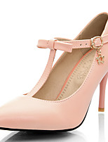 Women's Shoes Stiletto Heel/T-Strap/Pointed Toe Heels Party & Evening/Dress Blue/Pink/Purple