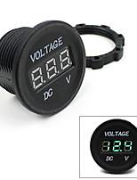dc 12v-24v panel de instrumentos de la motocicleta llevado voltímetro tensión pantalla digital nueva