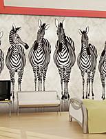 effet cuir shinny animaux papier peint grande murale zébrées art décoration murale