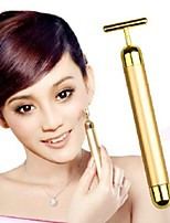 Face Lift Tightening Firming 24K Gold Face Skin Massage Roller Body Massager Electric Vibrator Health Beauty for Women