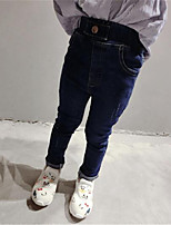 Girl's Casual/Daily Solid Jeans,Cotton Summer / Spring / Fall Blue