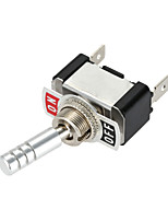 jtron DC12V 20a on-off bil rocker knap switch - sølv