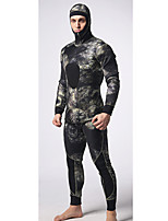 Men's Diving Suit Waterproof / Wearable /Thermal / Warm Wetsuits 3.5 to 5.4 mm Black S / M / L / XL / XXL Nylon