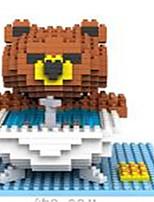 loz ours bruns salle de bains loz blocs de diamant bloquent jouets jouets de bricolage (350 pcs)