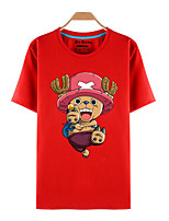 Inspired by One Piece Tony Tony Chopper Anime Cosplay Costumes Cosplay T-shirt Print Red Short Sleeve Top