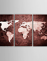 Oil Painting Modern Abstract World Map Landscape Hand Painted Canvas with Stretched Framed