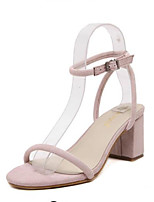 Women's Shoes Leatherette Chunky Heel Comfort Sandals Outdoor Black / Pink
