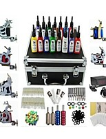 Basekey Tattoo Kit K226 6Guns Machine With Power Supply Grips Cleaning Brush Needles Ink