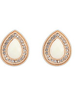 Creative Jewelry Earrings for Women White Round Rhinestone Drops Stud Earrings Wedding Gifts