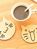 animal mignon creux cadeau sculpté montagnes tasse de coupelle porte-mat café bar boutique de tapis de table de tasse de thé en bois